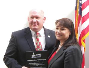 Congressman Thompson receives award from National PTA