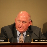 Congressman Thompson sitting at a hearing