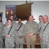 Congressman Thompson with military personnel