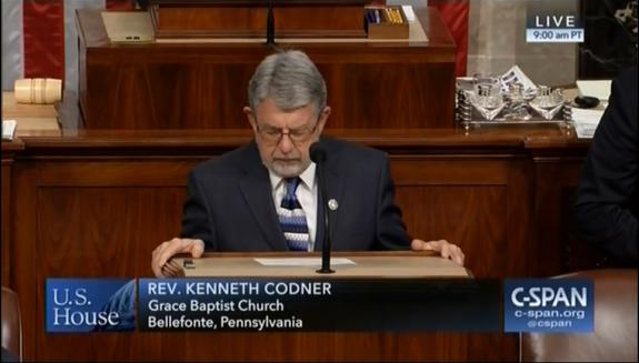 Spring Mills Pastor Serves as Guest Chaplain of U.S. House of Representatives