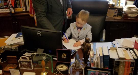 Thompson Hosts a Special Guest for Take Your Kids to Work Day feature image